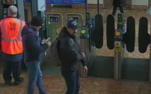 Image of both suspects at Salisbury train station at 11.48am on March 4 - Credit: Metropolitan Police