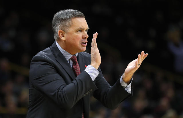 Ohio State head coach Chris Holtmann has exceeded expectations dramatically in his debut season in Columbus. (AP)