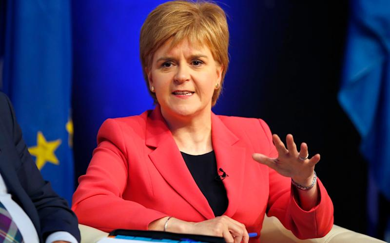 Nicola Sturgeon has claimed Tory intransigence is pushing her towards calling a second independence referendum - Credit: PA