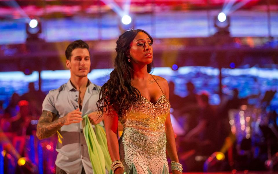 Gorka Marquez and Alexandra Burke performing in Strictly Come Dancing 2017 - BBC