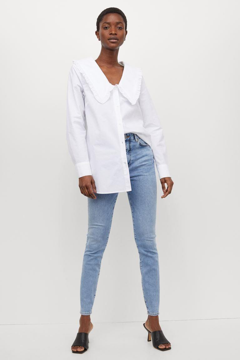 <p>These <span>H&amp;M Embrace High Ankle Jeans</span> ($36, originally $40) are super stretchy, which we love. The wash is easy to style, and can seamlessly transition from summer into fall.</p>