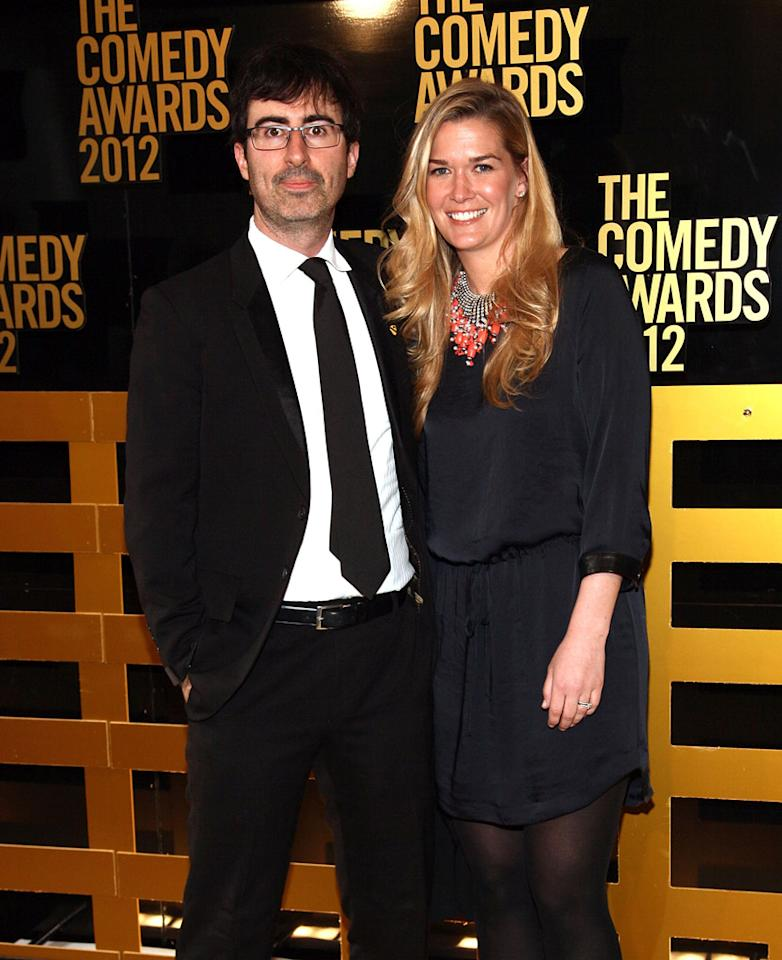 John Oliver and Kate Norley attend The Comedy Awards 2012 at Hammerstein Ballroom on April 28, 2012 in New York City.