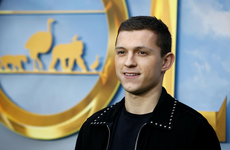 "Cast member Tom Holland poses at a special screening of ""Dolittle"" in London, Britain, January 25, 2020. REUTERS/Henry Nicholls"