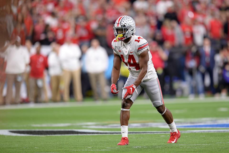 Ohio State WR K.J. Hill had a very strong week at the Senior Bowl. (Photo by Michael Allio/Icon Sportswire via Getty Images)