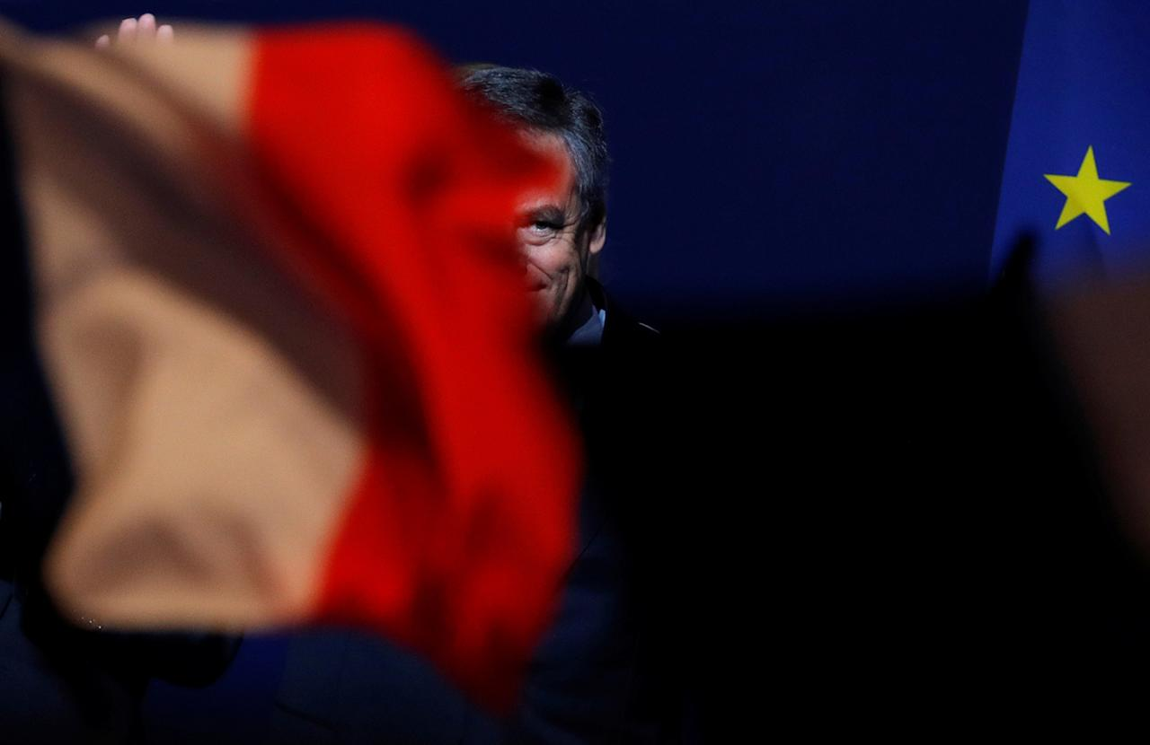 <p>Francois Fillon, former French Prime Minister, member of the Republicans political party and 2017 presidential election candidate of the French centre-right leaves after delivering a speech at a campaign rally in Aubervilliers, Paris suburb, March 4, 2017. (Photo: Philippe Wojazer/Reuters) </p>