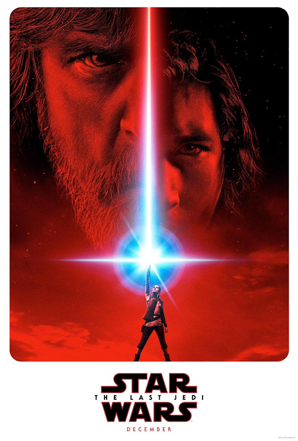 An advance poster for Star Wars: The Last Jedi.