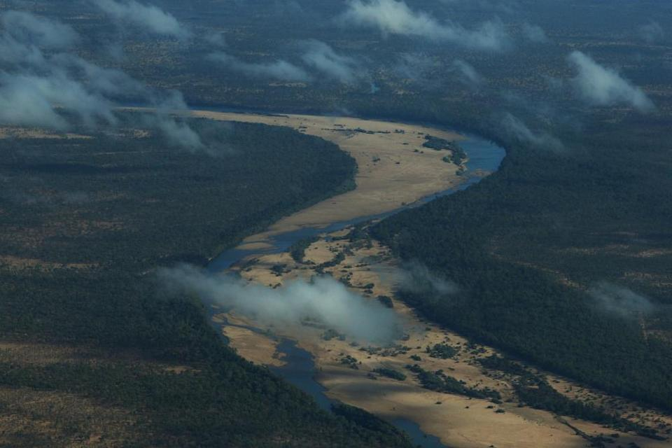 An aerial view towards Dunbar station in the Gulf of Carpentaria