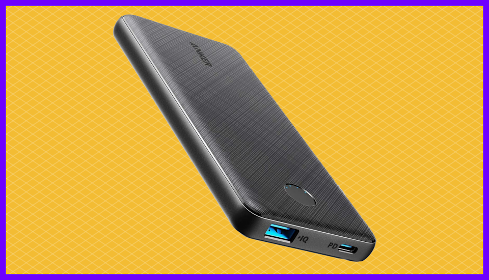 The take-charge Anker PowerCore Slim 10000 PD (now $24!) keeps your devices going strong all day. (Photo: Amazon)