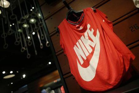 Clothes are displayed in the Nike store in Santa Monica, California, September 25, 2013. REUTERS/Lucy Nicholson