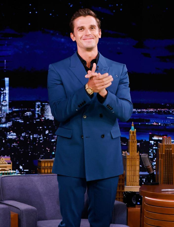 <p>Antoni Porowski stops by <i>The Tonight Show Starring Jimmy Fallon</i> on Sept. 14 in N.Y.C. </p>