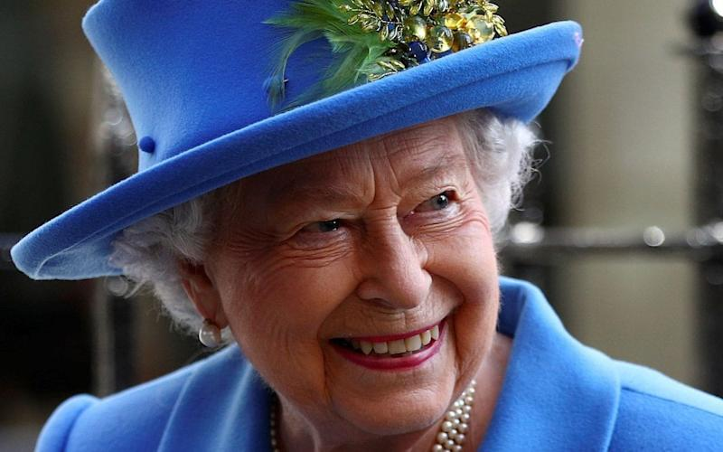 Queen Elizabeth II attends an event to mark the centenary of GCHQ, the UK's Intelligence, Security and Cyber Agency, in London on February 14, 2019 - AFP