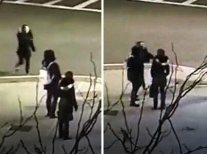A Boston woman and her teenage daughter say they were physically assaulted by two women for speaking Spanish on a street. Surveillance video shows one individual approaching the mother and daughter on a street corner before appearing to shove or hit one of them. (Photo: http://lawyersforcivilrights.org/)