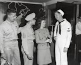 <p>In an effort to keep the spirits of soldiers up, Shirley arrived in New York in 1944 and visited Pennsylvania Station to greet fans in the service.</p>