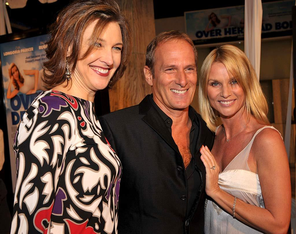 "Eva's ""Desperate Housewives"" buddies Brenda Strong and Nicollette Sheridan (pictured with her fiance Michael Bolton) show their support for the tiny Texan and her new film, which opens in theaters on Friday, February 1. Lester Cohen/<a href=""http://www.wireimage.com"" target=""new"">WireImage.com</a> - January 29, 2008"