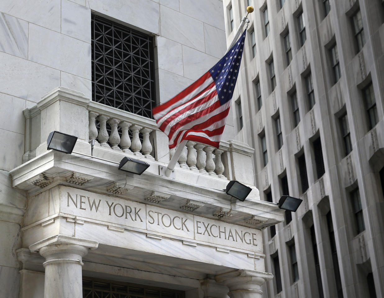 <p> FILE - This Monday, Aug. 24, 2015, file photo shows the New York Stock Exchange. Stocks are opening higher on Wall Street, Wednesday, Oct. 18, 2017, as IBM surges on third-quarter profit and health care companies, banks and technology firms also rise. (AP Photo/Seth Wenig, File) </p>