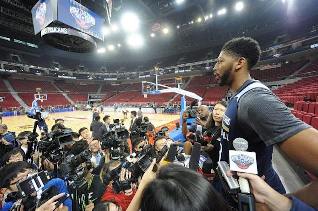 Anthony Davis is still head and shoulders above the vast majority of the basketball world. (Getty Images)