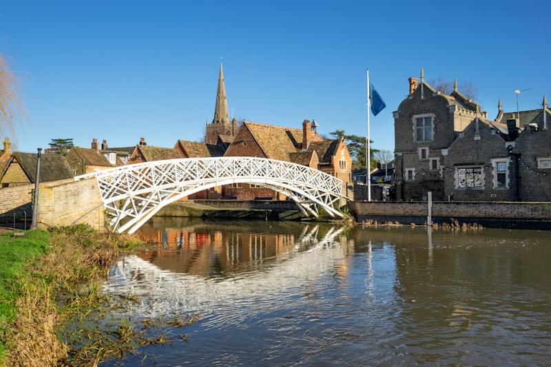 Footbridge in Godmanchester in the county of Cambridgeshire (Photo:Getty Creative)