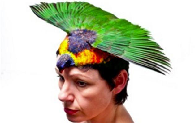 People have expressed their distaste at Emily Valentine's exhibition. Pictured is the Lori Hat, which is priced at $2,500. Photo: Janet Clayton Gallery