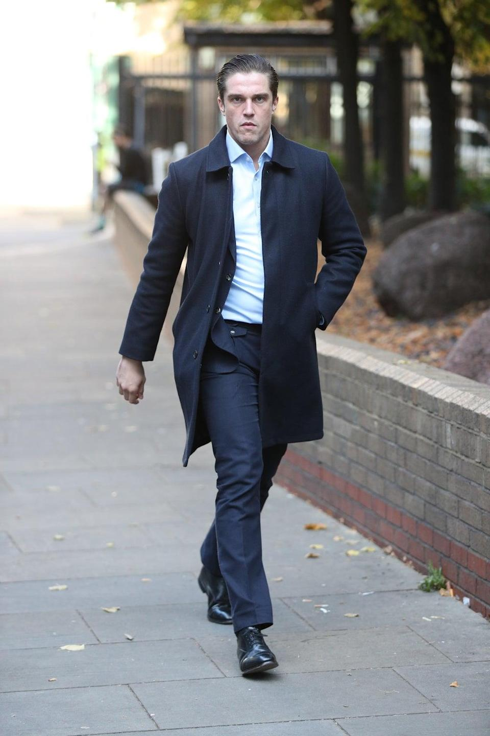 Towie star Lewis Bloor arrives at Southwark Crown (PA) (PA Archive)