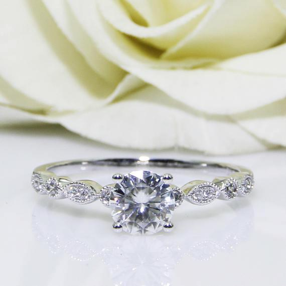 The Best Vintage Engagement Rings On Etsy