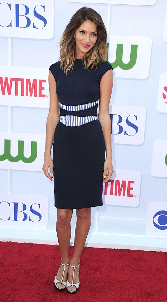 "Dawn Olivieri (""House of Lies"") arrives at the CBS, Showtime, and The CW Summer 2012 Press Tour Party on July 29, 2012 in Beverly Hills, California."