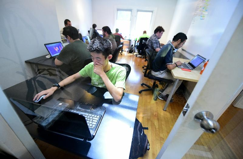 MindSpark seeks out people on the high-functioning end of the autism spectrum with behaviors that, while at odds with social norms, it considers are advantages in working with computer technology (AFP Photo/Frederic J. Brown)