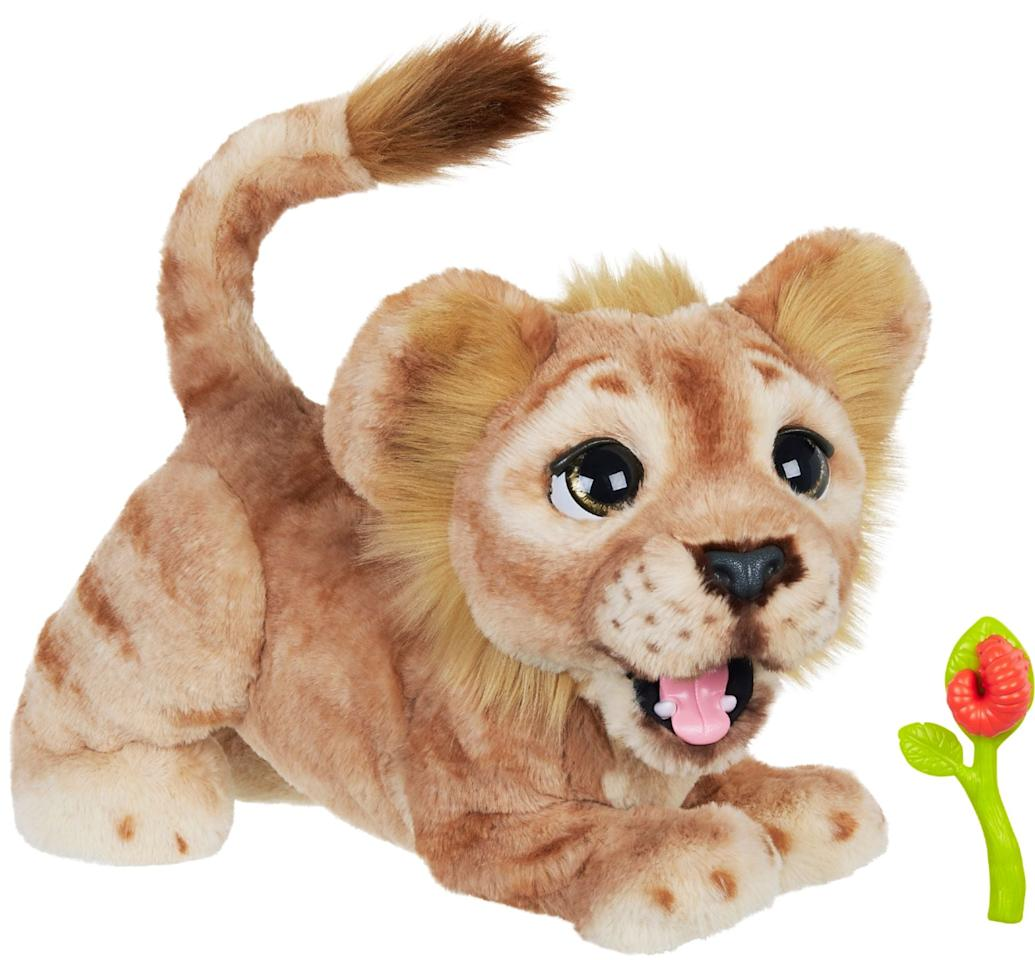 "<p>This adorable <a href=""https://www.popsugar.com/buy/The%20Lion%20King%20Mighty%20Roar%20Simba%20Interactive%20Plush%20Toy-472625?p_name=The%20Lion%20King%20Mighty%20Roar%20Simba%20Interactive%20Plush%20Toy&retailer=amazon.com&price=80&evar1=moms%3Aus&evar9=46421869&evar98=https%3A%2F%2Fwww.popsugar.com%2Ffamily%2Fphoto-gallery%2F46421869%2Fimage%2F46422970%2FLion-King-Mighty-Roar-Simba-Interactive-Plush-Toy&list1=toys%2Cgift%20guide%2Cdisney%2Cparenting%20gift%20guide%2Ckid%20shopping%2Ckid%20gifts%2Cbest%20of%202019&prop13=api&pdata=1"" rel=""nofollow"" data-shoppable-link=""1"" target=""_blank"" class=""ga-track"" data-ga-category=""Related"" data-ga-label=""https://www.amazon.com/Hasbro-Interactive-Brought-Furreal-Combinations/dp/B07MC8TCGL"" data-ga-action=""In-Line Links"">The Lion King Mighty Roar Simba Interactive Plush Toy</a> ($80) has over 100 sound and motion combinations and responds to your child's touch.</p>"