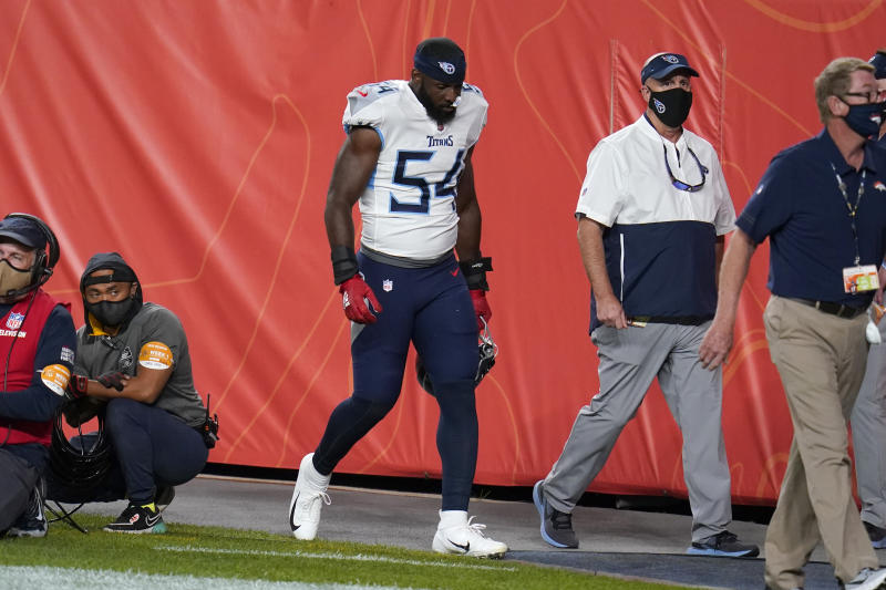 Titans' Rashaan Evans fined for punching Broncos' Jake Butt in Week 1