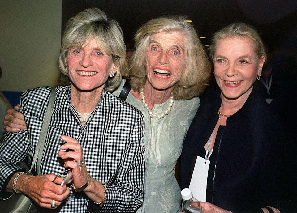 <p>Sisters Jean and Eunice reunited in Los Angeles and wound up posing for a photo with actress Lauren Bacall.</p>