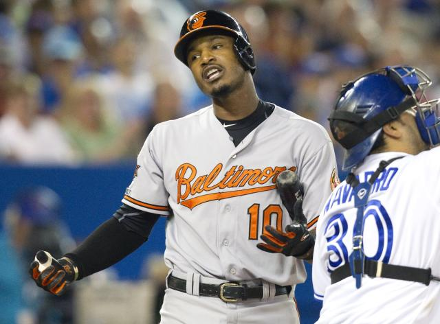 Adam Jones gets flak for 'airport shtick' at Orioles social media event