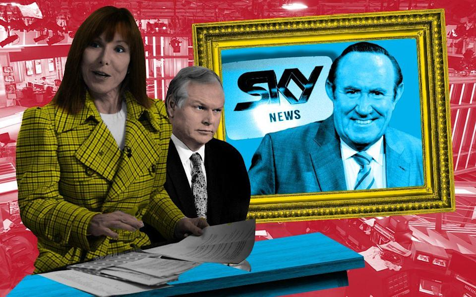 Kay Burley, Adam Boulton (centre) and Andrew Neil