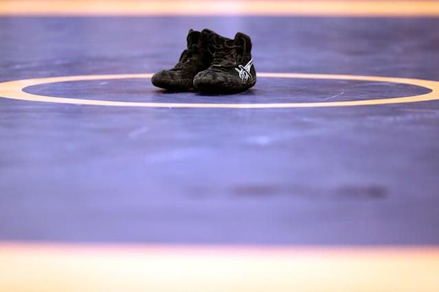 A high school wrestling official has alleged $100,000 in damages for defamation of character and emotional distress. (Getty)