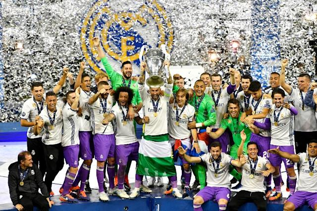 Three and easy: Real Madrid are looking to become the first side for 42 years to win three consecutive European Cups (AFP Photo/Handout)