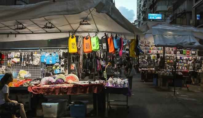 The Ladies' Market in Mong Kok has been deserted amid the Covid-19 pandemic. Photo: K. Y. Cheng