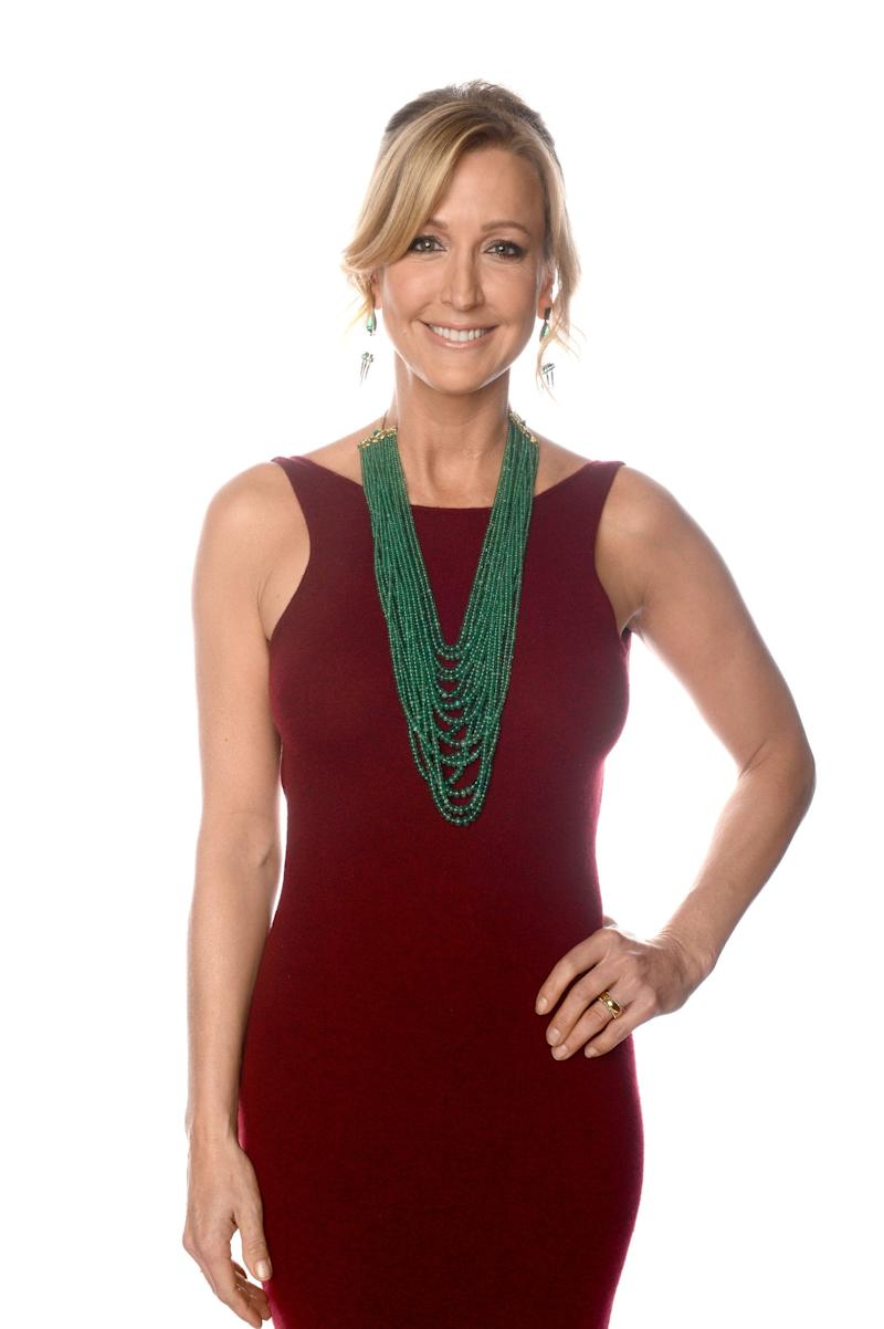 BEVERLY HILLS, CA - JANUARY 13: TV personality Lara Spencer poses for a portrait at the 70th Annual Golden Globe Awards held at The Beverly Hilton Hotel on January 13, 2013 in Beverly Hills, California. (Photo by Dimitrios Kambouris/Getty Images)