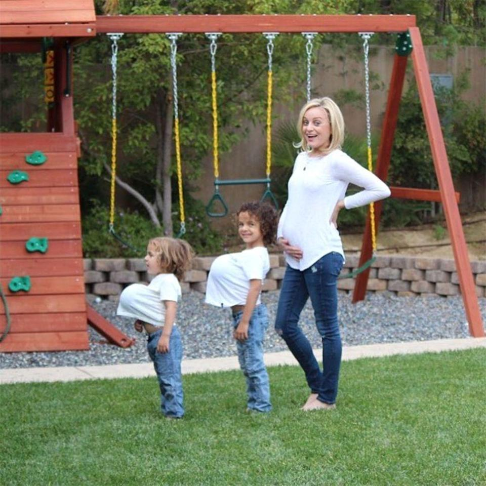 Alfonso Ribeiro's wife Angela and their sons