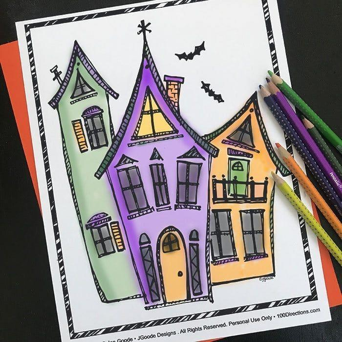 """<p>There's no more wholesome of an activity than coloring — and the simple pleasure is not just for kids, but soothing and fun for grownups, too. Print out these Halloween coloring pages with options for every age and skill level. Designs include haunted houses, intricate spider webs, bats, witches, and more.</p><p><em><a href=""""https://www.happinessishomemade.net/halloween-coloring-pages/"""" rel=""""nofollow noopener"""" target=""""_blank"""" data-ylk=""""slk:Get the printable at Happiness Is Homemade »"""" class=""""link rapid-noclick-resp"""">Get the printable at Happiness Is Homemade »</a></em></p>"""