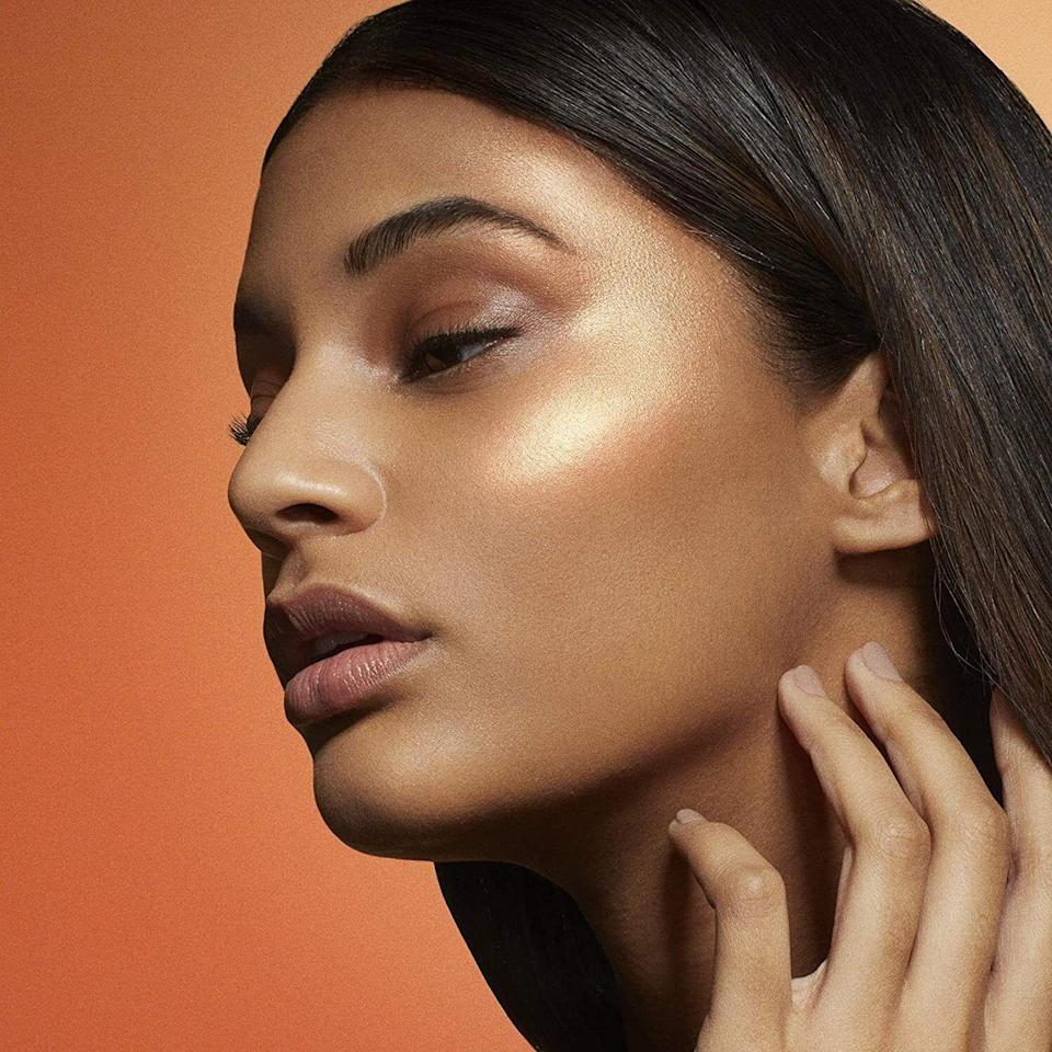 """A swipe of a brush will give your cheeks a glowing tint that'll stay in place all day long.<br /><br /><strong>Promising review:</strong>""""This is such a creamy feeling highlighter in the pan. <strong>It looks so nice and dewy on the face.</strong> And it's affordable which is what made me buy it. It does get a little fragile after some time but that's because of howbutteryand creamy the formula is, but the color is so pretty and i really love this highlighter.""""— <a href=""""https://www.amazon.com/dp/B06XF2YKPP?tag=huffpost-bfsyndication-20&ascsubtag=5906615%2C25%2C35%2Cd%2C0%2C0%2C0%2C962%3A1%3B901%3A2%3B900%3A2%3B974%3A3%3B975%3A2%3B982%3A2%2C16595497%2C0"""" target=""""_blank"""" rel=""""noopener noreferrer"""">Esme</a><br /><br /><strong>Get it from Amazon for<a href=""""https://www.amazon.com/dp/B06XF2YKPP?tag=huffpost-bfsyndication-20&ascsubtag=5906615%2C25%2C35%2Cd%2C0%2C0%2C0%2C962%3A1%3B901%3A2%3B900%3A2%3B974%3A3%3B975%3A2%3B982%3A2%2C16595497%2C0"""" target=""""_blank"""" rel=""""nofollow noopener noreferrer"""" data-skimlinks-tracking=""""5906615"""" data-vars-affiliate=""""Amazon"""" data-vars-asin=""""B06XF2YKPP"""" data-vars-href=""""https://www.amazon.com/dp/B06XF2YKPP?tag=bfkayla-20&ascsubtag=5906615%2C25%2C35%2Cmobile_web%2C0%2C0%2C16595497"""" data-vars-keywords=""""cleaning,fast fashion"""" data-vars-link-id=""""16595497"""" data-vars-price="""""""" data-vars-product-id=""""16652638"""" data-vars-product-img=""""https://m.media-amazon.com/images/I/51o2LL3zP3L._SL500_.jpg"""" data-vars-product-title=""""Maybelline Master Chrome Metallic Highlighter Powder, Molten Gold, 0.24 Ounce"""" data-vars-retailers=""""Amazon"""">$5.84</a>(available in four shades).</strong>"""