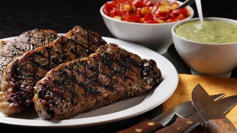 """<p>You've never had a steak sauce like this. The sweet, creamy avocado-lemongrass sauce plays off of the hearty steak for a summertime party on your plate.</p> <p><a href=""""https://www.thedailymeal.com/recipes/grilled-steak-avocado-lemongrass-sauce-recipe?referrer=yahoo&category=beauty_food&include_utm=1&utm_medium=referral&utm_source=yahoo&utm_campaign=feed"""" rel=""""nofollow noopener"""" target=""""_blank"""" data-ylk=""""slk:For the Grilled Steak With Avocado-Lemongrass Sauce recipe, click here."""" class=""""link rapid-noclick-resp"""">For the Grilled Steak With Avocado-Lemongrass Sauce recipe, click here.</a></p>"""