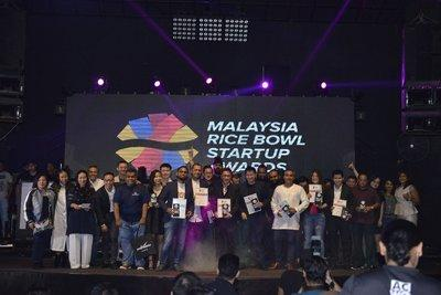 The winners of the Malaysia Rice Bowl Startup Awards 2017