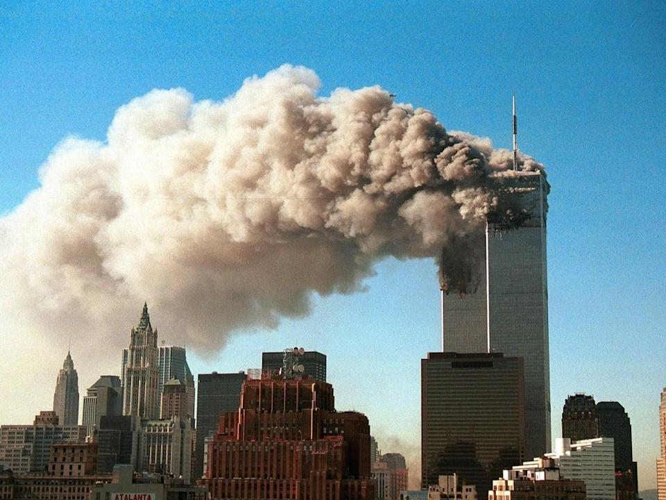 The immediate aftermath of the 9/11 terror attack  (Getty)