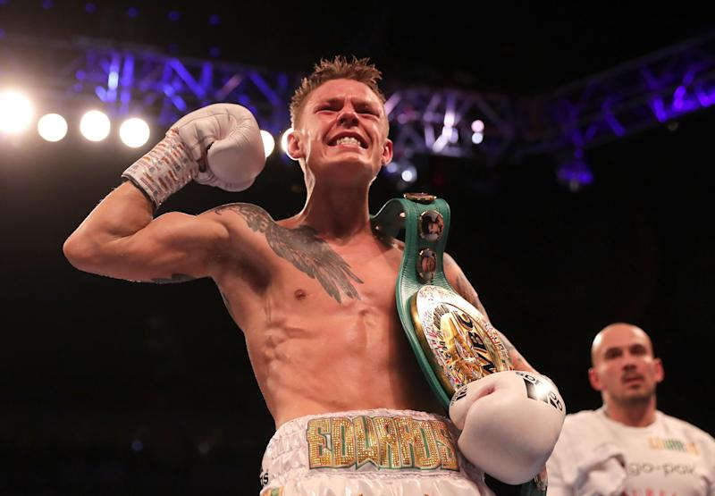 Edwards won his world title in December. (Getty Images)