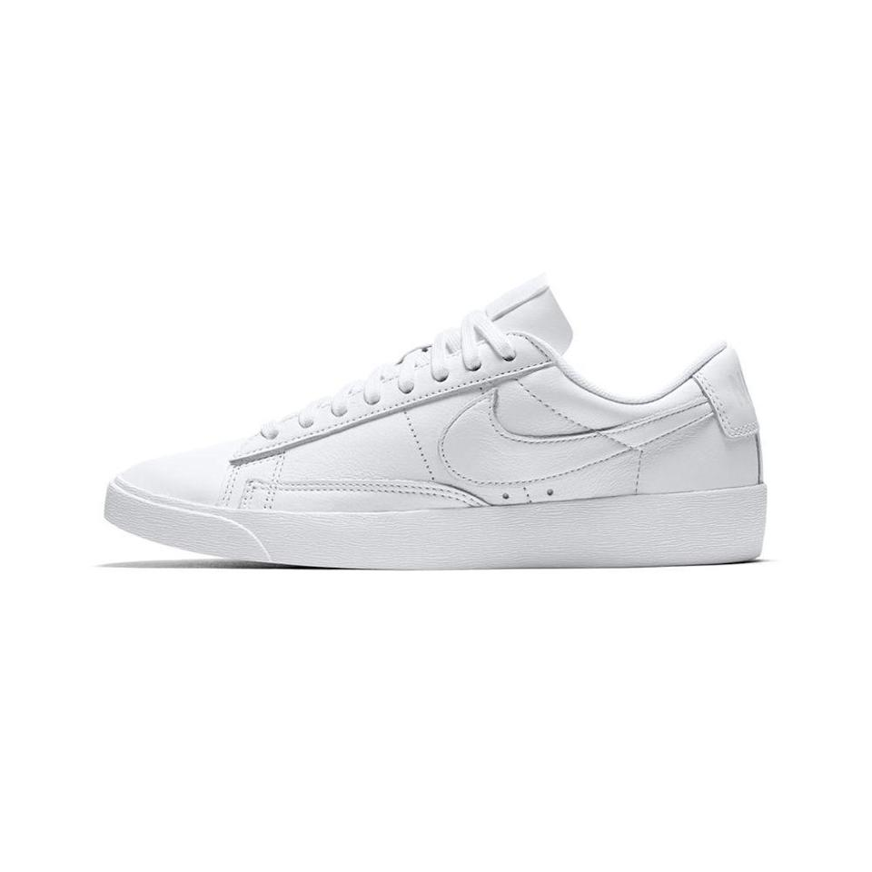 """<p><strong>nike</strong></p><p>nike.com</p><p><a href=""""https://go.redirectingat.com?id=74968X1596630&url=https%3A%2F%2Fwww.nike.com%2Ft%2Fblazer-low-le-womens-shoe-Wgg1Mw&sref=https%3A%2F%2Fwww.elle.com%2Ffashion%2Fshopping%2Fg35279952%2Fbest-fashion-on-sale-2021%2F"""" rel=""""nofollow noopener"""" target=""""_blank"""" data-ylk=""""slk:Shop Now"""" class=""""link rapid-noclick-resp"""">Shop Now</a></p><p><strong><del>$75</del> $57 (24% off)</strong></p><p>If you've been on the hunt for a new pair of <a href=""""https://www.elle.com/fashion/shopping/g27828/new-classic-white-sneakers-to-buy-now/"""" rel=""""nofollow noopener"""" target=""""_blank"""" data-ylk=""""slk:white leather sneakers"""" class=""""link rapid-noclick-resp"""">white leather sneakers</a> for spring, don't overlook these Nike Blazer Low LEs. These can be worn with just about everything. </p>"""