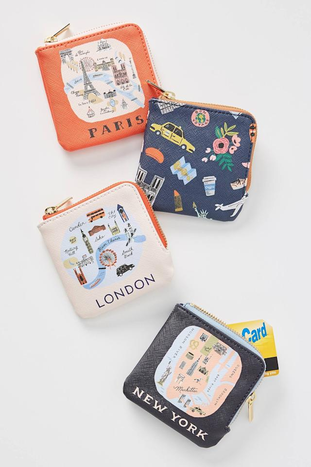 """<p>Get them this <a href=""""https://www.popsugar.com/buy/Rifle-Paper-Co-Anthropologie-London-Coin-Pouch-514030?p_name=Rifle%20Paper%20Co.%20For%20Anthropologie%20London%20Coin%20Pouch&retailer=anthropologie.com&pid=514030&price=24&evar1=savvy%3Aus&evar9=42816170&evar98=https%3A%2F%2Fwww.popsugar.com%2Fsmart-living%2Fphoto-gallery%2F42816170%2Fimage%2F46937172%2FRifle-Paper-Co-For-Anthropologie-London-Coin-Pouch&list1=holiday%2Cstocking%20stuffers%2Cchristmas%2Cgift%20guide%2Cgifts%20under%20%2450&prop13=mobile&pdata=1"""" rel=""""nofollow"""" data-shoppable-link=""""1"""" target=""""_blank"""" class=""""ga-track"""" data-ga-category=""""Related"""" data-ga-label=""""https://www.anthropologie.com/shop/rifle-paper-co-for-anthropologie-london-coin-pouch?category=holiday-gifts-stocking-stuffers&amp;color=066&amp;type=STANDARD"""" data-ga-action=""""In-Line Links"""">Rifle Paper Co. For Anthropologie London Coin Pouch</a> ($24) in the choice of their favorite city.</p>"""