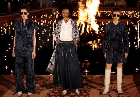 Models present creations during the Cruise 2020 collection show for French fashion house Dior in Marrakech, Morocco, April 29, 2019. REUTERS/Youssef Boudlal