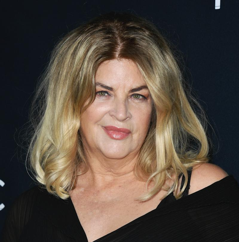 "HOLLYWOOD, CALIFORNIA - AUGUST 22: Kirstie Alley attends the Premiere Of Quiver Distribution's ""The Fanatic"" at the Egyptian Theatre on August 22, 2019 in Hollywood, California. (Photo by Jon Kopaloff/FilmMagic)"