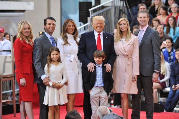 Tiffany in John Paul Ataker and the Trump Family at an NBC Today's town hall in April 2016. (Photo: Getty Images)