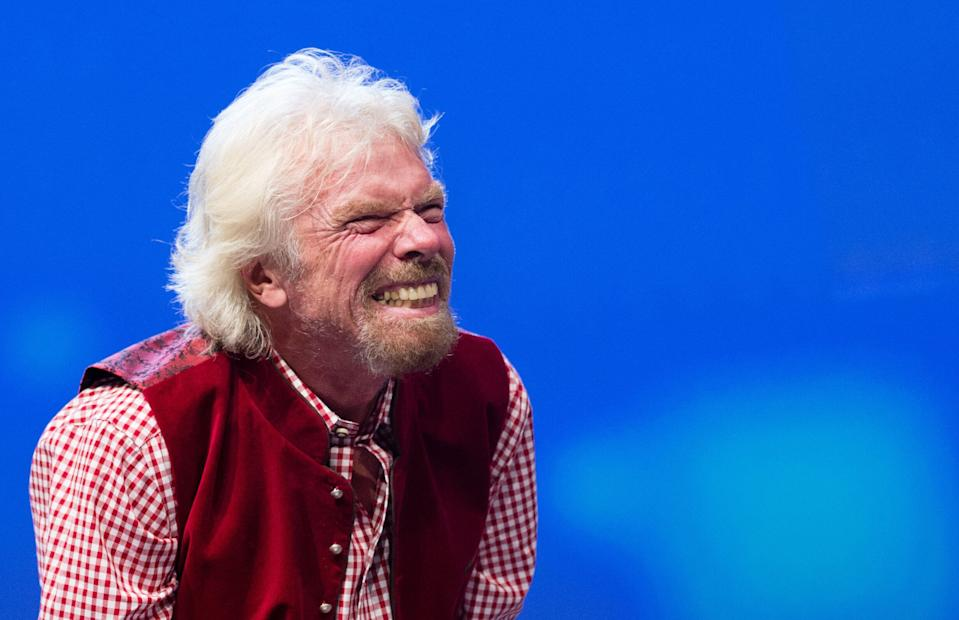 Virgin's founder Richard Branson. (Photo credit should read MATTHIAS BALK/AFP/Getty Images)