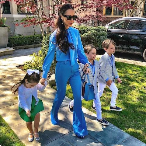 Jessica Mulroney with Ivy, Brian and John - Credit: Instagram