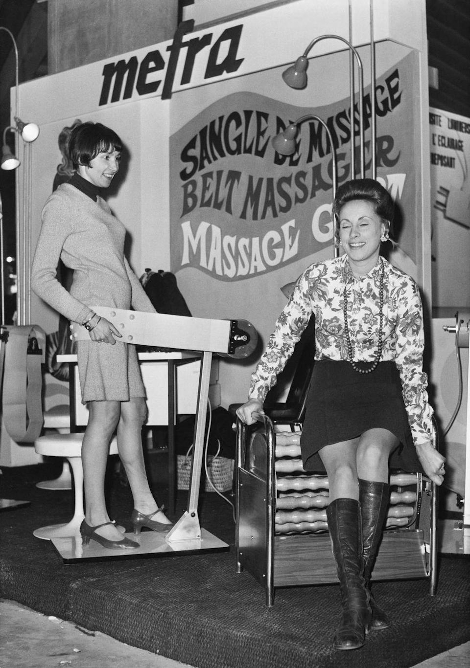 <p>The invention from the 1950s promised to banish stubborn belly fat and was still popular decades later in the 1970s. </p>